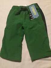Gymboree Soccer Camp Boys Green Athletic Pants size 3-6 Months Nwt