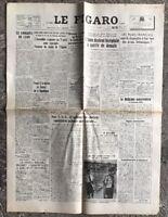 N134 La Une Du Journal Le Figaro 14 Et 15 Août 1947