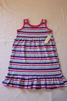 NEW Girls Sleeveless Dress Small 6 - 6X Party Outfit Pink Purple Blue Striped