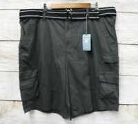 Shorts Beverly Hills Polo Club Shorts Mens Size 42 Gray Belted Ripstop Cargo New