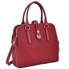 New Dasein Woven Women Leather Satchel Handbag Purse Tote Shoulder Bag Day Bag