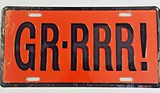 Pontiac GTO Firebird Front or Rear Bumper License Plate Metal Embossed GRRRR