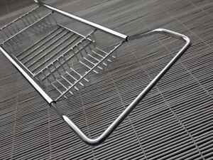 Vintage Chrome Metal / Stainless Steel Extending Bath Rack Storage Caddie In VGC