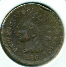 1866 INDIAN HEAD CENT, EXTRA FINE DETAIL, CORRODED, GREAT PRICE!
