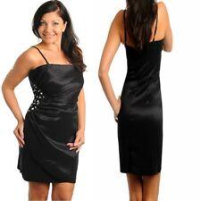 B16 Womens Size 14/16 Black Beach Summer Party Sexy Office Work Day Slim Dress