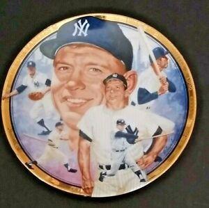 1992 Hamilton Collection Plate Baseball New York Yankees Mickey Mantle Ltd Ed