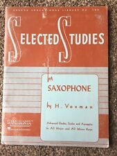 Hal Leonard Selected Studies For Saxophone by H. Voxman