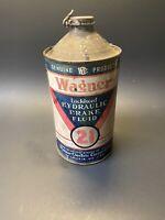 Vintage 1930s Wagner Lockhead No. 21 Hydraulic Brake Fluid Cone Top Can
