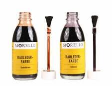Morello Wildlederfarbe 100ml Lederfarbe für Wildleder mit Pinselaufträger z2004