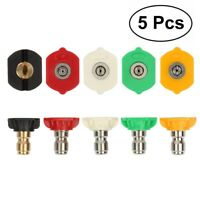 5 Packs Pressure Washer Spray Nozzle Tips 1/4 Quick Connect Design 2.5 GPM