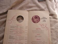 Vintage Glen Campbell Menu Showroom Internationale Las Vegas Nevada Hilton