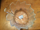 Stunning Orrefors Crystal Fruit Bowl with Label Perfect Condition Leaf Shaped