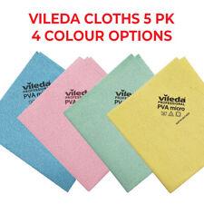 Vileda PVA Micro Cloth, Blue 5 Pack - Blue / Red / Green / Yellow