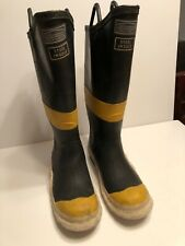 BF Goodrich Firefighter Pull On Boots Black Rubber ANSI Z41.1 Size 9M