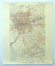 Spokane Washington Vintage USGS Topo Map 1950 Millwood 15-minute Topographic