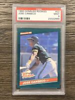 1986 Donruss The Rookies Jose Canseco PSA 9 Rookie #22 RC
