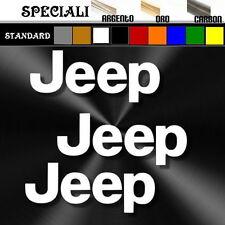 3 adesivi sticker JEEP prespaziato,offroad 4x4 fuoristrada auto,casco  9,5cm