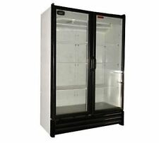 2 FULL DOOR GLASS DISPLAY COOLER REFRIGERATOR 28 CU 5 YEAR/1 YEAR FREE SHIPPING