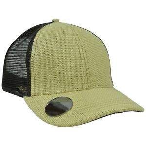 Plain Duke Straw Brown Mesh Built In Bottle Drink Opener Snapback Blank Hat Cap