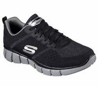 Skechers Black Extra Wide Fit Shoes Men's Memory Foam Sporty Trail Hiking 51530