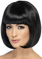 Womens Black Bobbed Partyrama Wig
