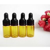 10Pcs 3ml Empty Amber Glass Dropper Bottles For Essential Oil Small Glass Bottle