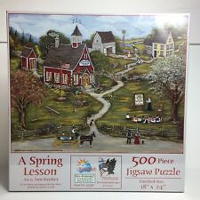 Suns Out Puzzle A Spring Lesson Lori Schory 500 Piece Jigsaw 18 X 24 USA New