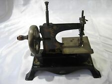 Antique German Casige Eagle Holding Key Miniature Toy Sewing Machine