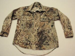 Mossy Oak Duck Blind Camouflage Long Sleeve Shirt Boys Small