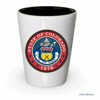 The state seal of Colorado Shot glass - Gifts for Colorado People