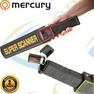 Handheld Metal Detection Security Wand Portable Hobby Detector Holster Scan