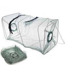 Durable Crab Fish Lobster Shrimp Fishing Bait Cast Net Hoop Cage Trap Foldable
