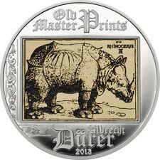 2013  $5 Cook Islands - ALBRECHT DURER RHINO -  SILVER COIN