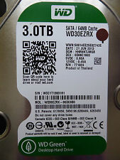Western Digital WD30EZRX-00DC0B0 | HHRNKTJMGB | 21 JUN 2013 | 3TB disco rigido *