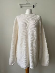In The Style Knit Longling Jumper Size 8 Oversized Cream