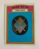 1972 Topps # 626 Babe Ruth Award Baseball Card