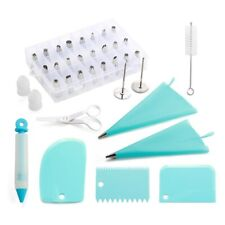 Silicone Reusable Icing Piping Pastry Bag Cake Decorating Kit Nozzles Scrapers