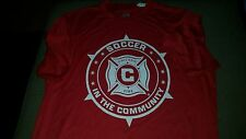 Chicago Fire SC Soccer Men's S Small Promo Jersey Shirt TrueCar Cricket A4