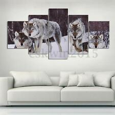 Wolf Snowfield Wolves HD Canvas Picture Painting Modern Home Wall Decor Unframed
