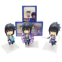 3 Pcs/Set Nendoroid Naruto Shippuden Sasuke Uchiha PVC Action Figure Model Toy