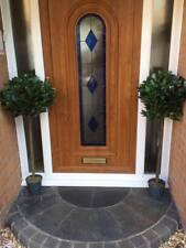 Pair Artificial 4ft/120cm Bay Laurel Topiary Trees & Pots Indoor/Outdoor Use