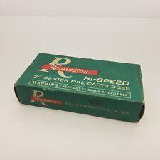 Vintage Remington Hi Speed Klean Bore Priming Emtpy Box 308 Win 180 grain Soft P