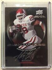 2011 Upper Deck Black Adrian Peterson UD Black Signatures #3/45 Oklahoma Sooners