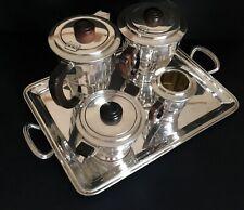 French Art Deco Coffee & Tea Service on Tray - Coffeeware