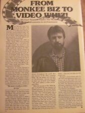 Mike Nesmith, Full Page Vintage Clipping