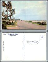 FLORIDA Postcard - Palm Beach, Along Ocean Drive M41