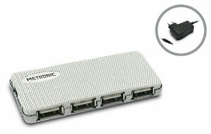 HUB USB 2.0 4 ports avec Alimentation secteur