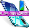 Case for Huawei P Smart 2020 Shockproof Clear AIR Cover & Glass Screen Protector