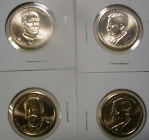 2013 All 4 Presidential D Dollars - BU - 4 Coins - Uncirculated