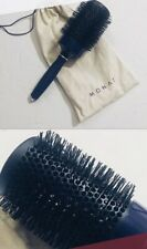 """New MONAT 3"""" Round Hair Brush w/ Muslin Bag & Pick. Perfect for Blowouts!"""